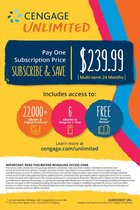 Cengage Unlimited, Multi-term (24 months) Printed Access Card, 1st Edition